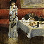 Картины с аукционов Sotheby's - Jean-Louis Forain - At the Restaurant, 1885