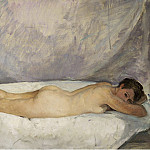 Female Nude Laying, 1928, Анри Лебаск