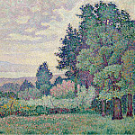 Sotheby's - Jean Metzinger - Landscape with Two Cypresses, 1905