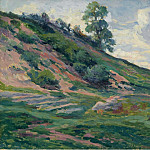 Картины с аукционов Sotheby's - Люс, Максимильен - The Outskirts of Moulineuz near Etampes, 1905