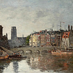 Rotterdam the Bridge of Bourse, 1876, Eugene Boudin