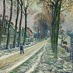 Little Street at Chessy, 1906, Анри Лебаск