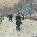 Sotheby's - Frederick Childe Hassam - The Promenade, Winter in New York, 1895