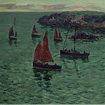 Sotheby's - Henry Moret - The Sea with Pinnaces, 1897