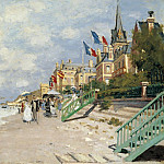 The Sandbeach at Trouville, 1870, Клод Оскар Моне