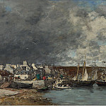 Картины с аукционов Sotheby's - Eugene Boudin - The Port of Camaret, 1872