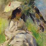 Картины с аукционов Sotheby's - Pierre Auguste Renoir - Young Woman with a Parasol, 1872