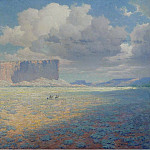 Sotheby's - William R. Leigh - Arizona Landscape with Two Riders, 1911