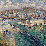 Картины с аукционов Sotheby's - Gustave Loiseau - The Port of Fecamp, 1925