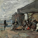 Sotheby's - Eugene Boudin - Scene on the Beach, 1888-95
