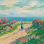 Картины с аукционов Sotheby's - Henry Moret - The Road near the Seascape, 1904