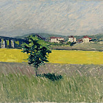 Sotheby's - Gustave Cailleibotte - The Lawn near the Bridge of Argenteuil, 1882-86