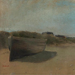 Boat on the Sand, 1869, Edgar Degas