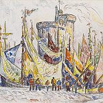 Картины с аукционов Sotheby's - Paul Signac - The Port of La Roshelle, 1920