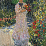 Camille with Green Umbrella, 1876, Claude Oscar Monet