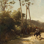 Sotheby's - Camille Pissarro - Landscape of Antilles, Donkeys Rider on the Road, 1856