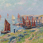 Картины с аукционов Sotheby's - Henry Moret - Returning of the Boats, 1907