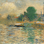 Barge on the Seine, 1884, Georges Seurat