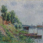 Sotheby's - Gustave Loiseau - The Riverbank, Oise, 1900