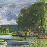 Sotheby's - Claude Monet - The Banks of the Seine near Jeufosse (Eure), 1880