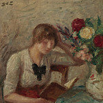 Sotheby's - Georges dEspagnat - Young Woman Reading
