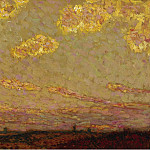 Sotheby's - Henri Le Sidaner - Sunset at Gerberoy, 1913