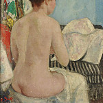 Картины с аукционов Sotheby's - Francois Gall - Eugenie Nude from Back, Studio at Villa Brume, 8b
