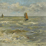 Boats in the Sea, 1888-95, Eugene Boudin