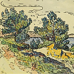 Sotheby's - Paul Signac - Landscape of the Seashore with Trees, 1894