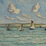 Sotheby's - Maximilien Luce - Honfleur, Sailers and Tug-Boats, 1929