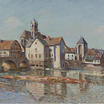 Sotheby's - Alfred Sisley - The Bridge of Moret, 1892