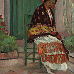 Woman in Flowery Shawl, Анри Лебаск