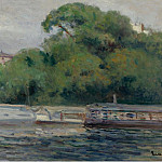 Sotheby's - Maximilien Luce - The Boats in Front of Trees and Bridge
