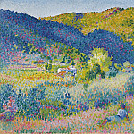 Sotheby's - Henri Edmond Cross - Landscape with Mountain Range, 1904