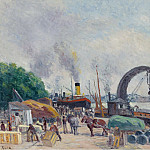 Sotheby's - Maximilien Luce - The Quay of Bercy, 1925