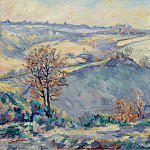 Картины с аукционов Sotheby's - Armand Guillaumin - Crozant, View to Charraud Bridge, 1905