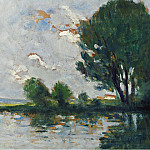 Sotheby's - Maximilien Luce - Banks of the Seine, 1930