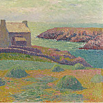 Картины с аукционов Sotheby's - Henry Moret - House on the Hill, 1898