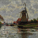 Картины с аукционов Sotheby's - Ludovic Rodo Pissarro - Windmill by the Water