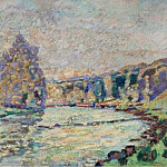 Sotheby's - Armand Guillaumin - The River of Creuse at Genetin, 1905