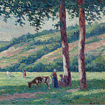 Sotheby's - Maximilien Luce - Landscape with Shepperds and Cows