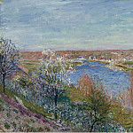 Sotheby's - Alfred Sisley - The Village in Champagne, Sunset, April, 1885