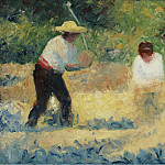Carrying Stones, 1884, Georges Seurat