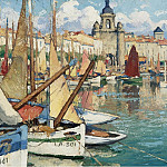 Картины с аукционов Sotheby's - Gaston Balande - The Port of La Roshelle
