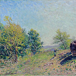Картины с аукционов Sotheby's - Alfred Sisley - Going to the Forest in Spring, 1886