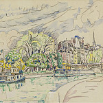 Sotheby's - Paul Signac - The Siene at Vert-Galant, 1925