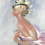 Sotheby's - Jean-Gabriel Domergue - Fashionable Woman in Hat with Feathers, 1933s