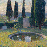 Sotheby's - Henri Martin - Little Pool in the Interior of Park of Marquayrol to the Southwest (Early Summer)