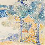 Картины с аукционов Sotheby's - Henri Edmond Cross - Landscape, Saint Clair