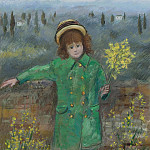 Картины с аукционов Sotheby's - Michele Cascella - Little Girl in Green, 1972